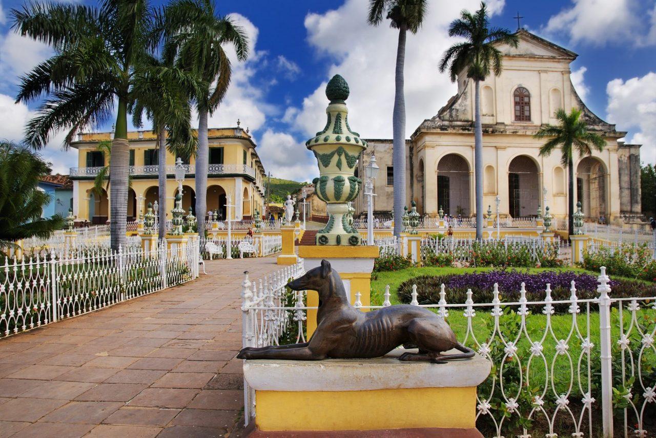 A view of plaza mayor in Trinidad, cuba