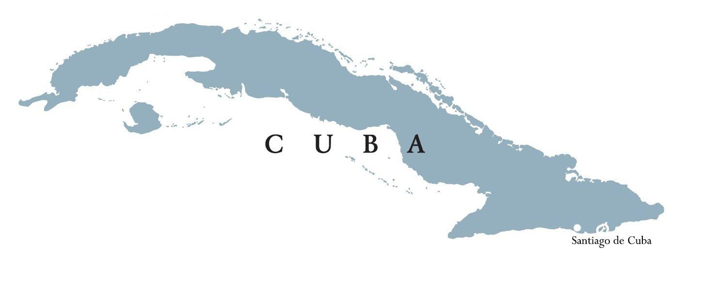 Cuba Map – Santiago de Cuba 2