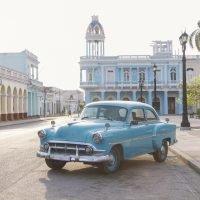 Cienfuegos, Town Square, Vintage Car